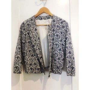 NWOT Madewell Floral Bomber